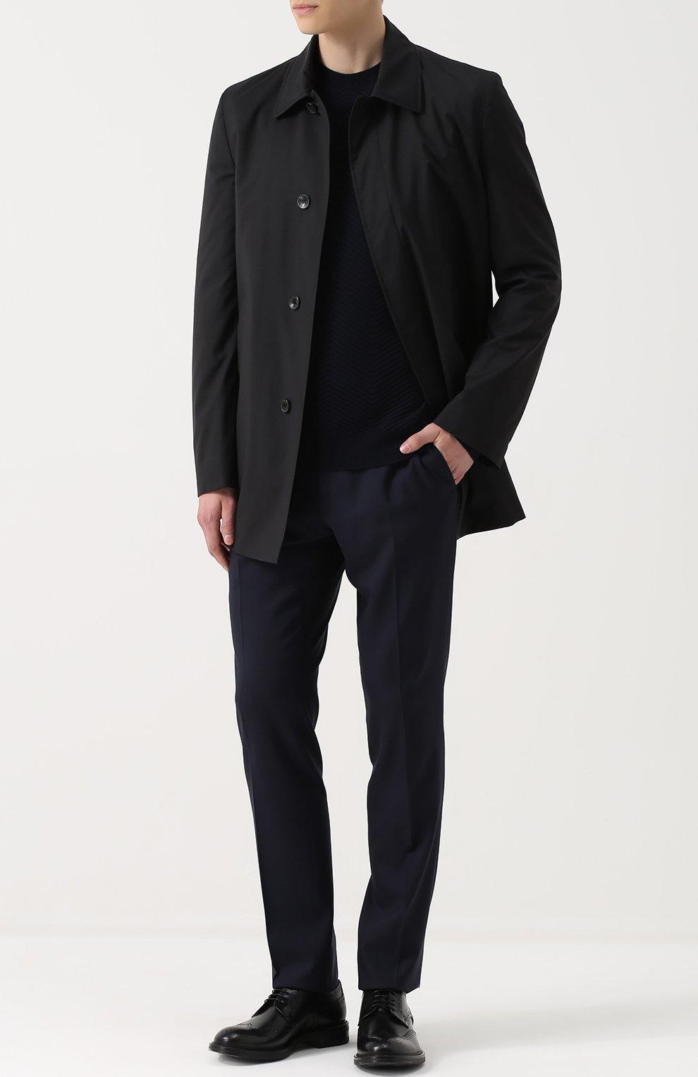 Джемпер фактурной вязки из смеси шерсти и кашемира | Фото №2