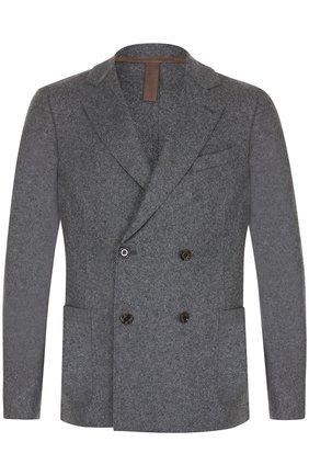 Двубортный шерстяной пиджак | Фото №1