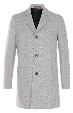 Шерстяное однобортное пальто