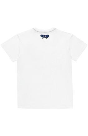 Детская хлопковая футболка с нашивками Dolce & Gabbana белого цвета | Фото №2