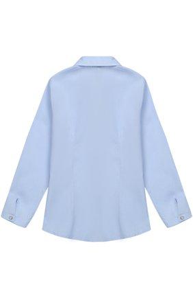 Хлопковая блуза прямого кроя с бантом | Фото №2