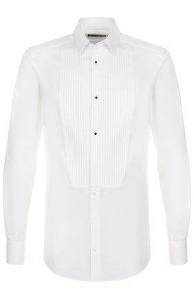 Хлопковая сорочка под смокинг  Dolce & Gabbana белая   Фото №1