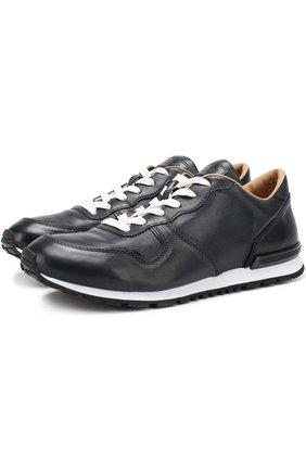 Кожаные кроссовки на шнуровке