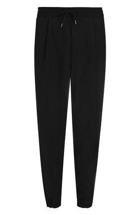 Шерстяные брюки с заниженной линией шага