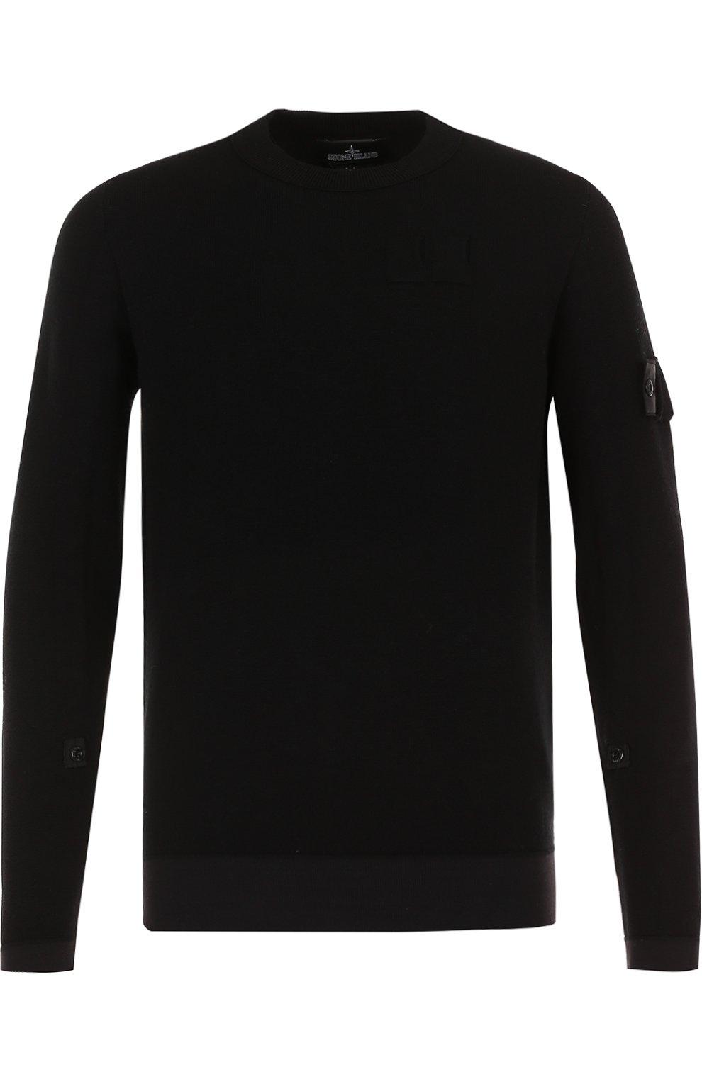 Однотонный шерстяной свитер   Фото №1