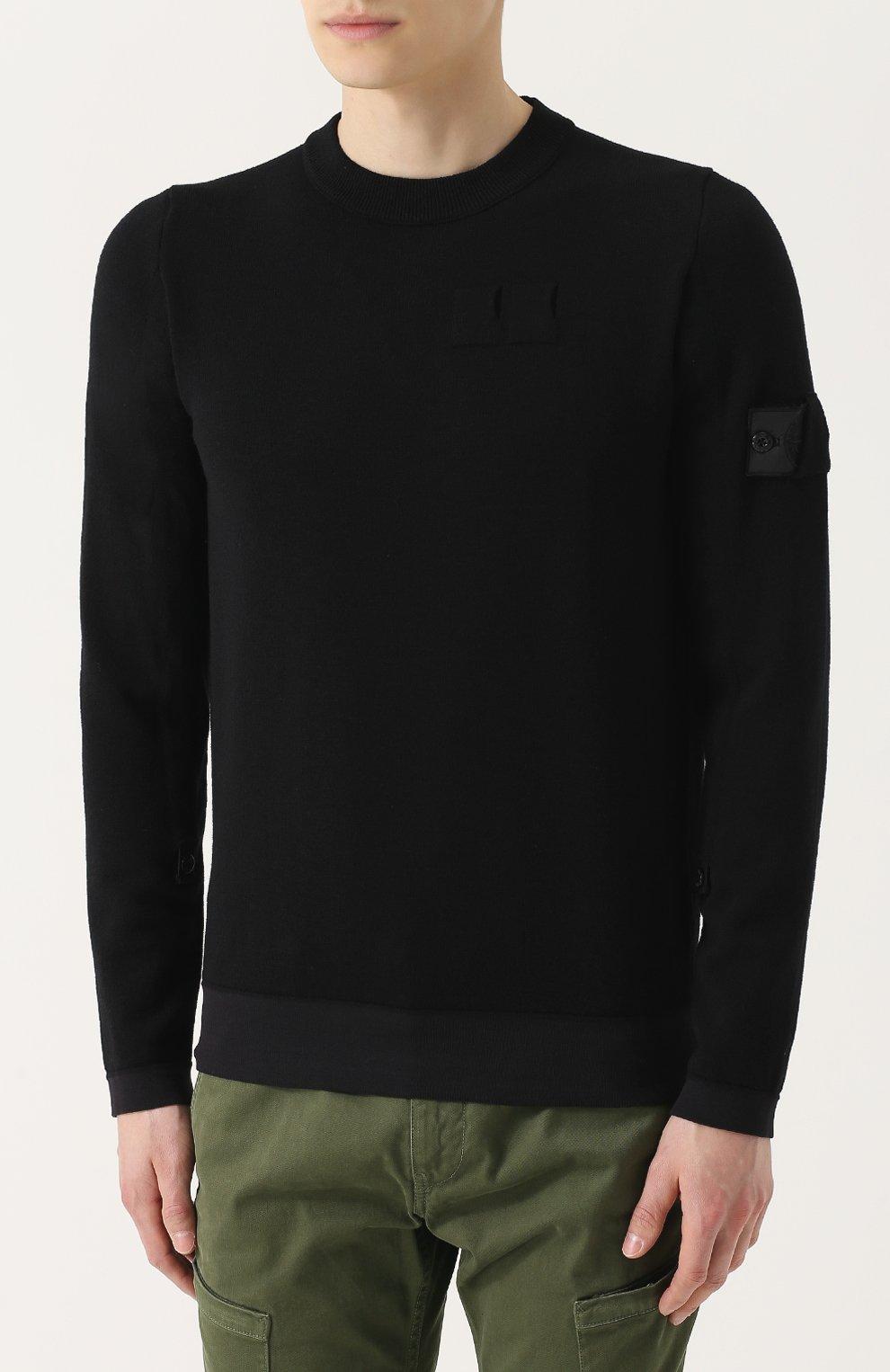Однотонный шерстяной свитер   Фото №3