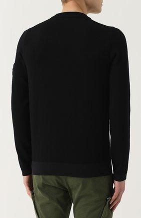 Однотонный шерстяной свитер   Фото №4