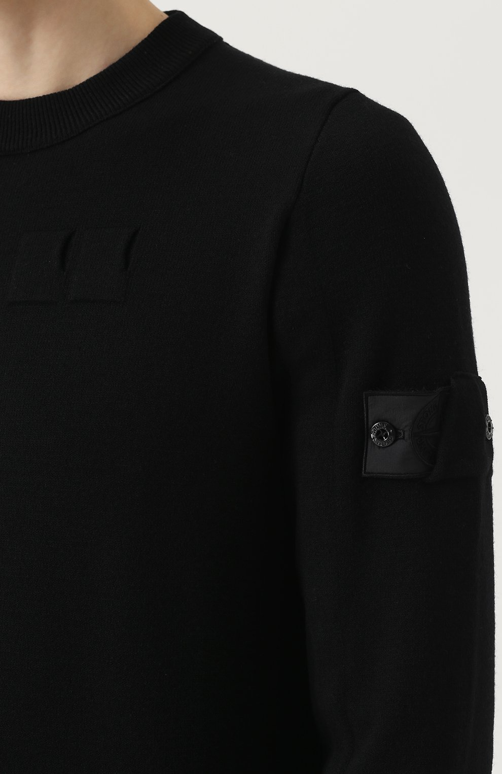 Однотонный шерстяной свитер   Фото №5