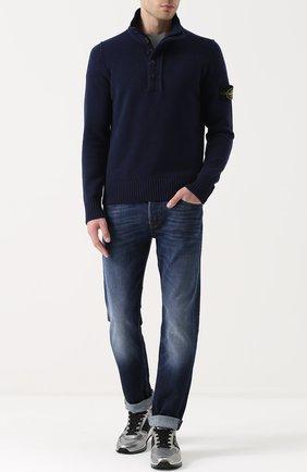 Шерстяной свитер с воротником-стойкой | Фото №2