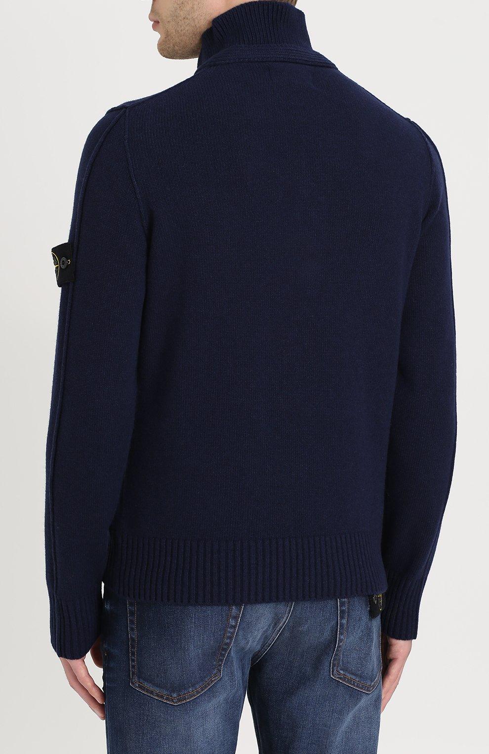 Шерстяной свитер с воротником-стойкой | Фото №4