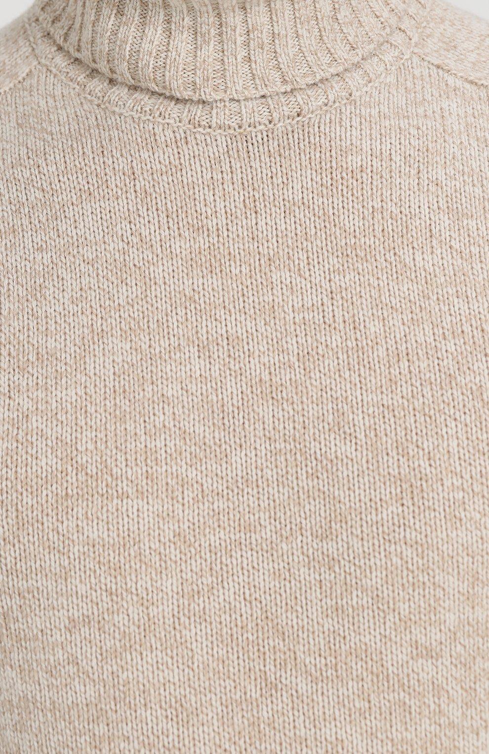 Свитер из смеси шерсти и кашемира с воротником-стойкой | Фото №5
