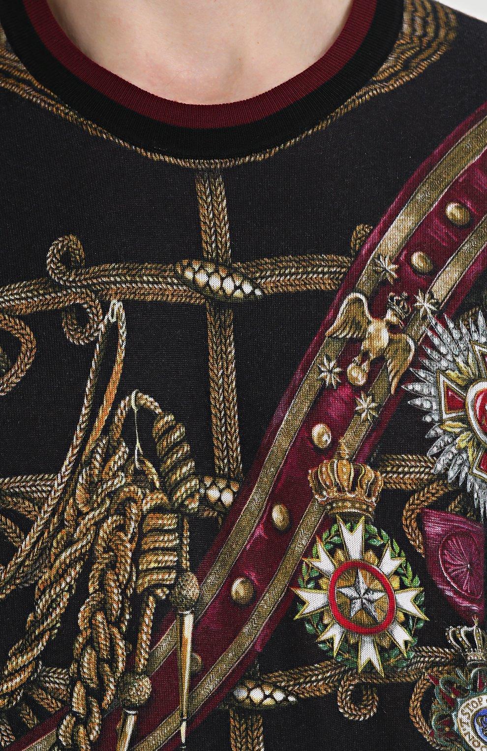 Джемпер с принтом из смеси кашемира и шелка с шерстью | Фото №5