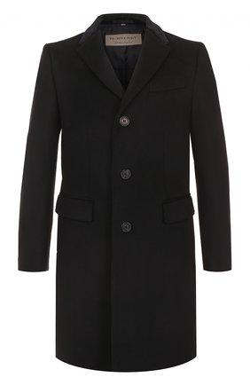 Однобортное пальто из смеси шерсти и кашемира   Фото №1