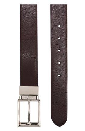 Мужской кожаный ремень с металлической пряжкой CANALI темно-синего цвета, арт. 50/KA00033 | Фото 2