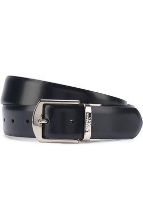 Мужской кожаный ремень с металлической пряжкой CANALI черного цвета, арт. 50/KA00036 | Фото 1