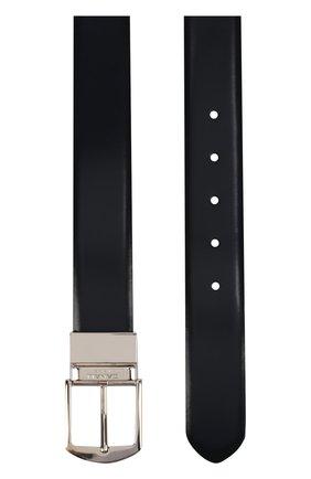 Мужской кожаный ремень с металлической пряжкой CANALI черного цвета, арт. 50/KA00036 | Фото 2