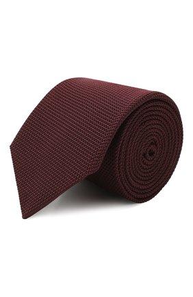 Мужской шелковый галстук LANVIN бордового цвета, арт. 1207/TIE | Фото 1