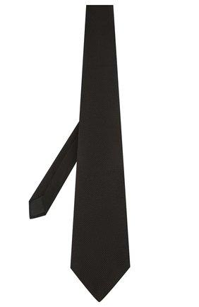 Мужской шелковый галстук LANVIN черного цвета, арт. 1207/TIE | Фото 2