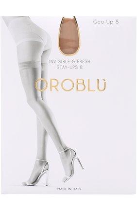 Женские капроновые чулки OROBLU светло-коричневого цвета, арт. V0BC01003 | Фото 1