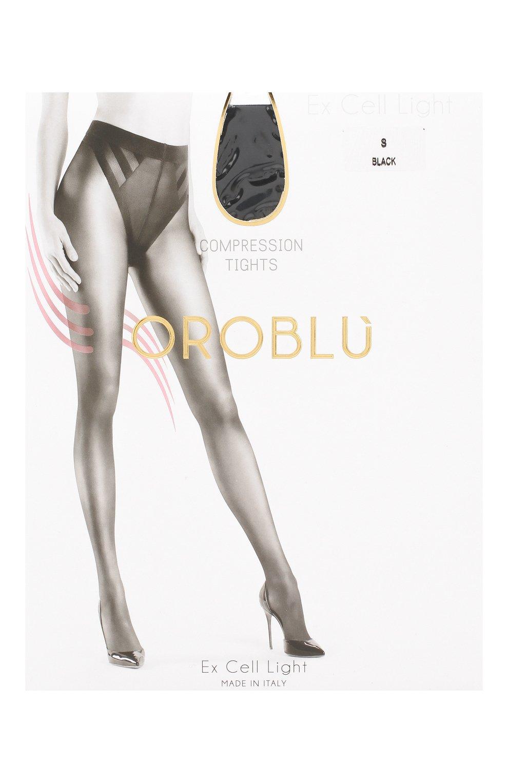Женские капроновые колготки OROBLU черного цвета, арт. V0BC01017 | Фото 1