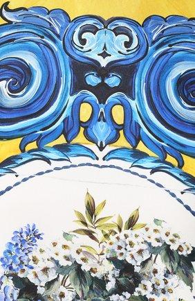 Шелковое платье прямого кроя с принтом Dolce & Gabbana разноцветное | Фото №5