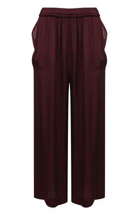 Укороченные широкие брюки с эластичным поясом | Фото №1