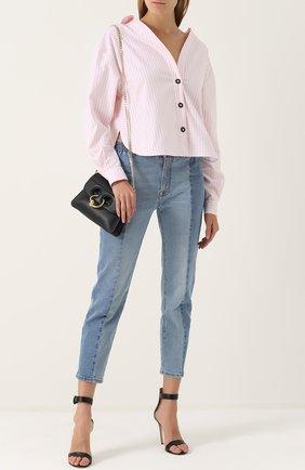 Женская блуза свободного кроя в полоску Walk of Shame, цвет розовый, арт. SH008/2-PF17 в ЦУМ | Фото №1