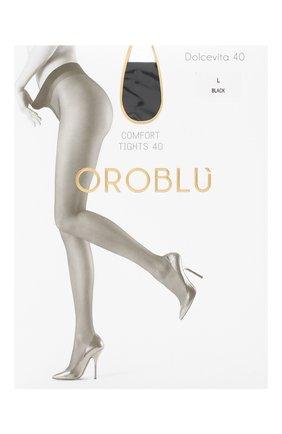 Женские капроновые колготки OROBLU черного цвета, арт. V0BC01013 | Фото 1