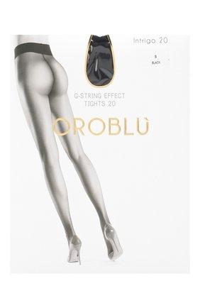Женские капроновые колготки OROBLU черного цвета, арт. V0BC01019 | Фото 1
