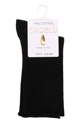 Женские хлопковые носки OROBLU черного цвета, арт. V0BFC18SP | Фото 1
