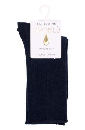 Женские хлопковые носки OROBLU темно-синего цвета, арт. V0BFC18SP | Фото 1