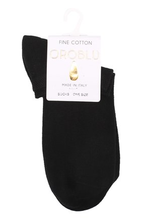 Женские хлопковые носки OROBLU черного цвета, арт. V0BFC18SS | Фото 1