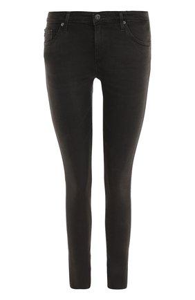 Женские однотонные джинсы-скинни AG черного цвета, арт. SPG1389-FS/RTK | Фото 1