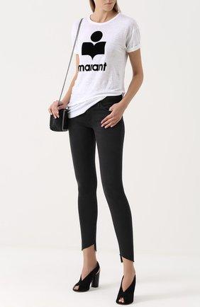 Женские однотонные джинсы-скинни AG черного цвета, арт. SPG1389-FS/RTK | Фото 2