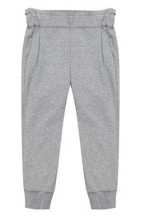 Спортивные брюки с эластичными манжетами и широким поясом | Фото №1