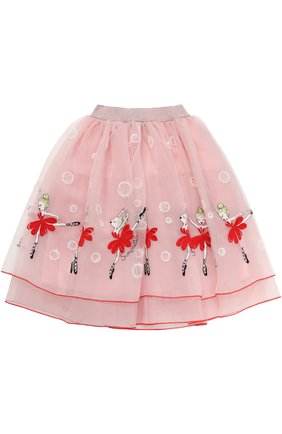 Многослойная юбка-миди с вышивкой | Фото №2