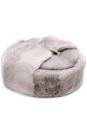 Меховая шапка-ушанка Walk of Shame серого цвета   Фото №1