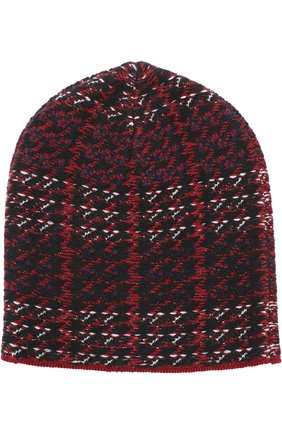 Вязаная шапка с узором houndstooth   Фото №1
