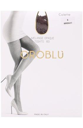 Женские капроновые колготки OROBLU бордового цвета, арт. V0BC01414 | Фото 1