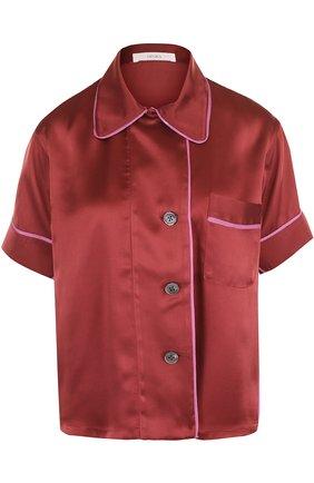Шелковая блуза с коротким рукавом   Фото №1
