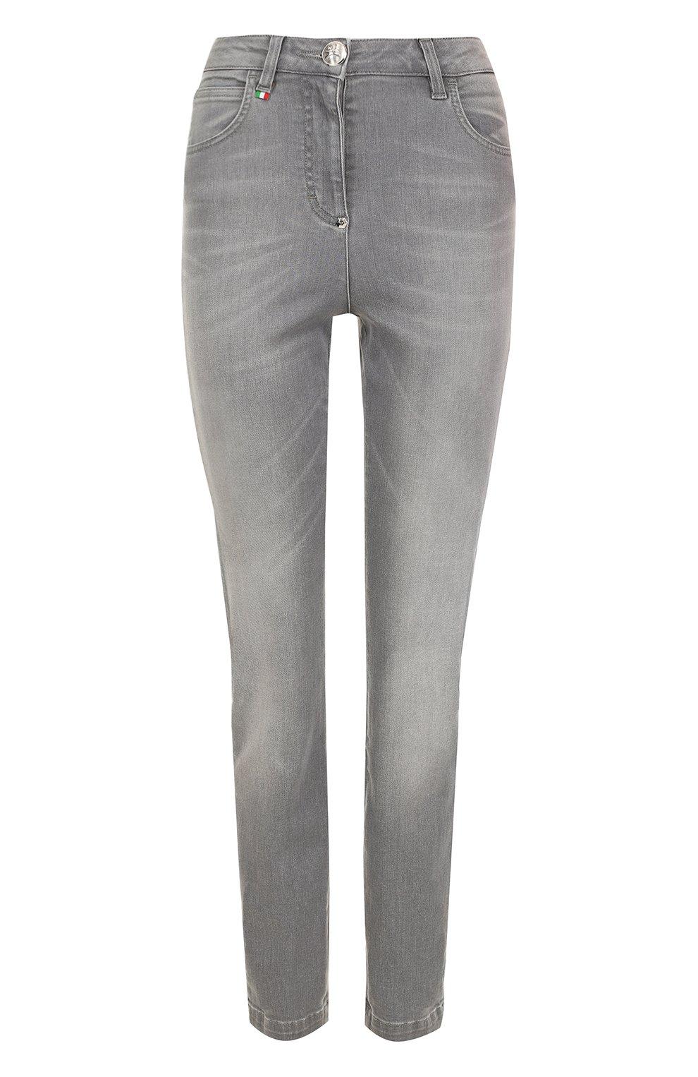 1ce1c27482d Женские серые джинсы с потертостями и завышенной талией PHILIPP ...