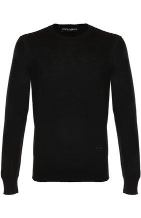 Джемпер из шерсти тонкой вязки Dolce & Gabbana черный   Фото №1