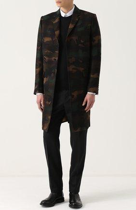 Джемпер из шерсти тонкой вязки Dolce & Gabbana черный   Фото №2