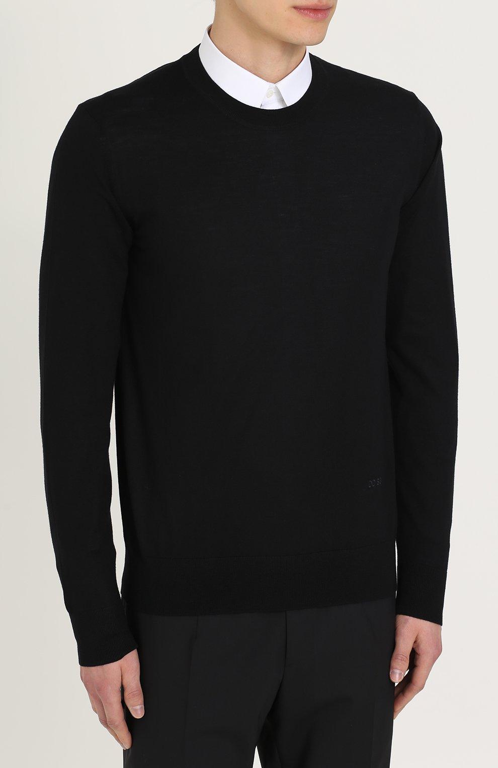 Джемпер из шерсти тонкой вязки Dolce & Gabbana черный   Фото №3