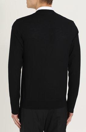 Джемпер из шерсти тонкой вязки Dolce & Gabbana черный   Фото №4