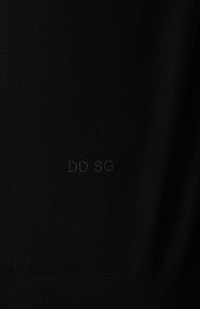 Джемпер из шерсти тонкой вязки Dolce & Gabbana черный   Фото №5