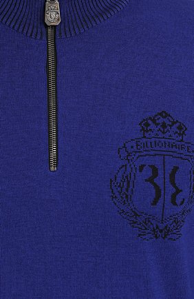 Свитер из смеси шерсти и шелка с воротником на молнии   Фото №5