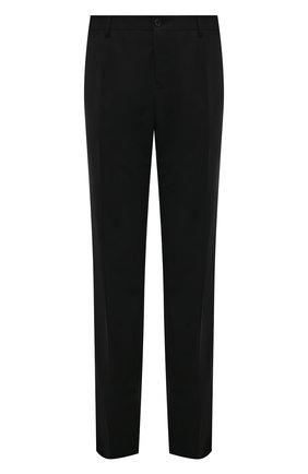 Шерстяные брюки прямого кроя Dolce & Gabbana черные | Фото №1