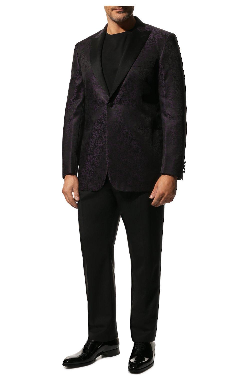 Шерстяные брюки прямого кроя Dolce & Gabbana черные | Фото №2