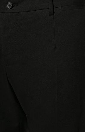 Шерстяные брюки прямого кроя Dolce & Gabbana черные | Фото №5